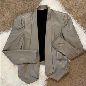 Rebecca Minkoff Grey Leather Blazer - 6